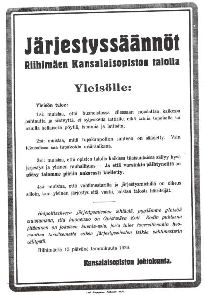 jarjestyssaannot_riihimaki_1929