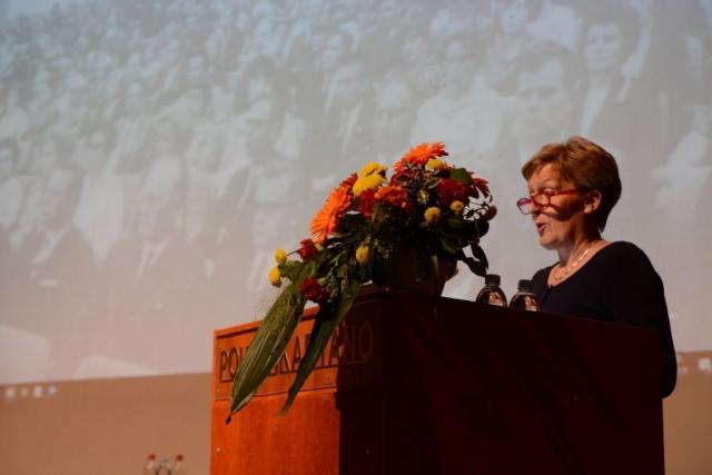 Entinen kansanedustaja ja sivistysvaliokunnan varapuheenjohtaja Inkeri Kerola puhui liittokokousseminaarissa sivistyksen ja koulutuksen merkityksestä uudessa sivistyskunnassa.