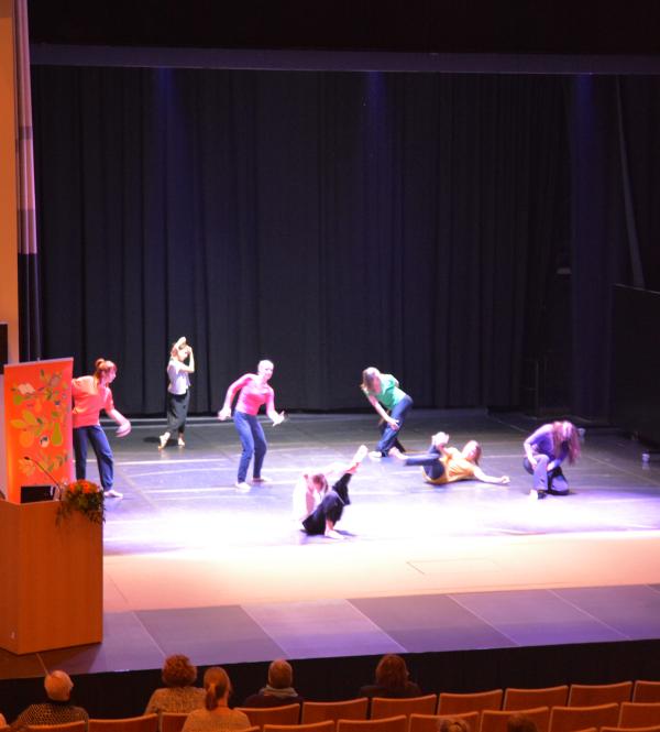 Kaksipäiväinen seminaari huipentui Helsingin työväenopiston I'm pro -tanssiryhmän esitykseen.