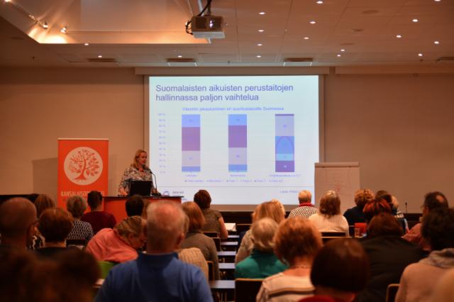 Onko Suomi tasa-arvon mallimaa? OAJ:n koulutusjohtaja Heljä Misukka kävi esittelemässä OAJ:n ehdotuksia siihen, kuinka tarjotaan kaikille monipuoliset oppimismahdollisuudet.